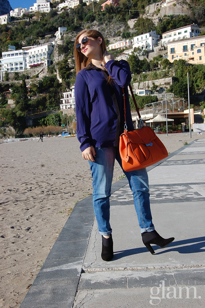 total look Promod | blogger bag arancio