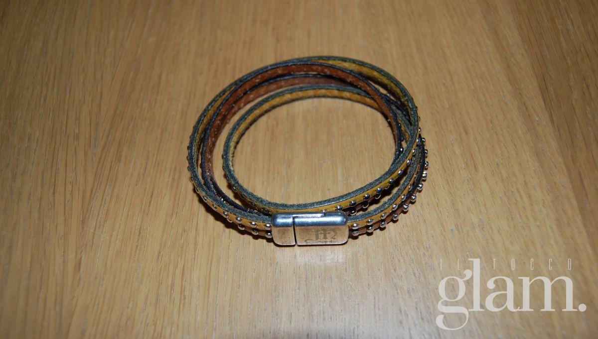 Bracciale Montecristo jewels in cuoio e borchie.