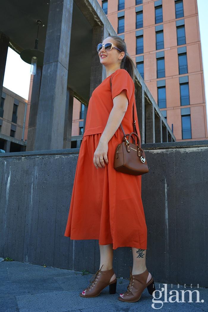 Vestito arancio dezzal