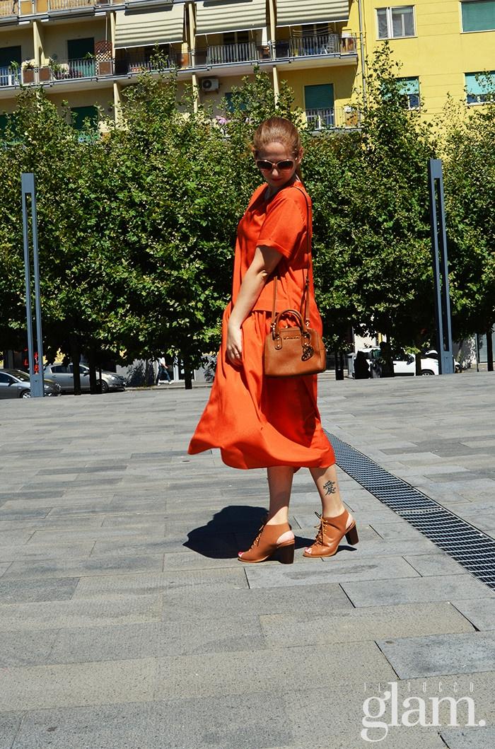 abito arancio estivo
