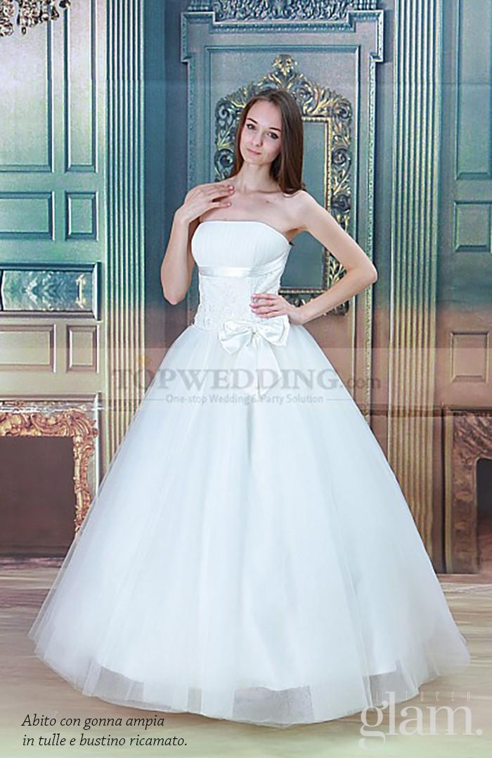 abito da sposa autunno con cintura e fiocco pag 2