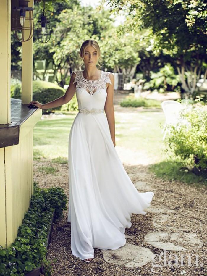 abito da sposa con cintura