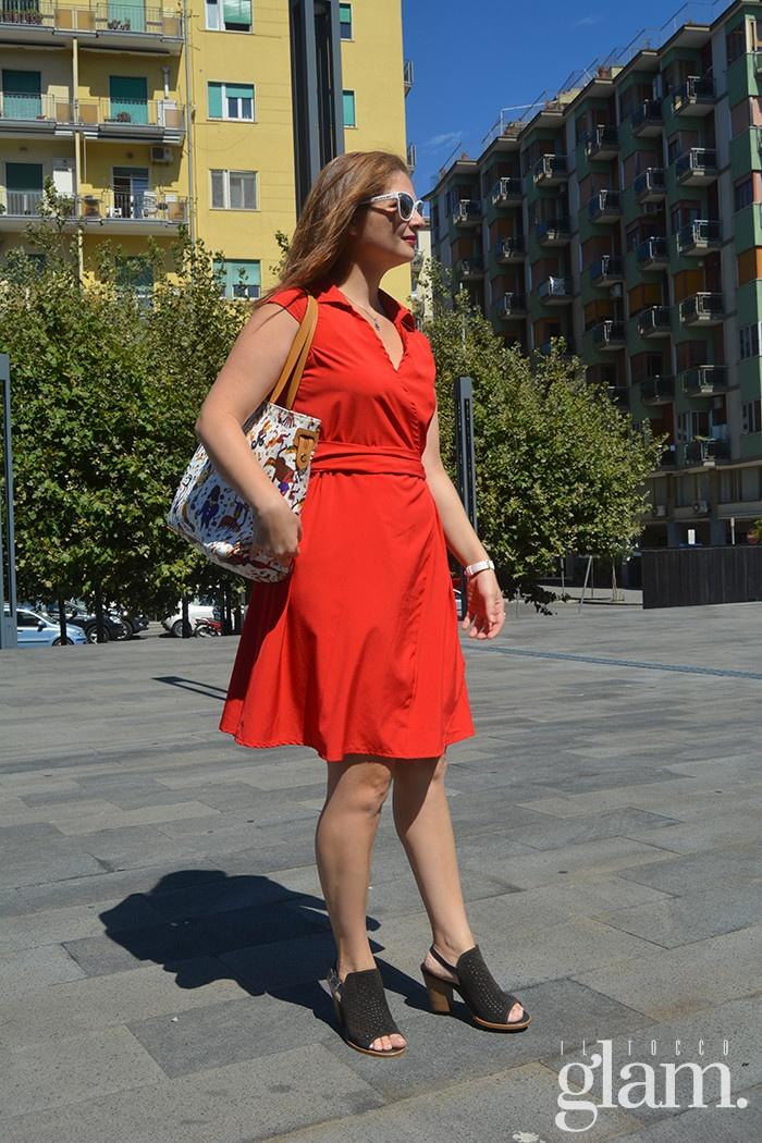 abito rosso corto