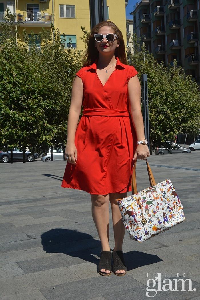 abito rosso estivo