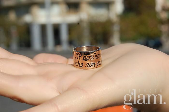 anello ink personalizzato