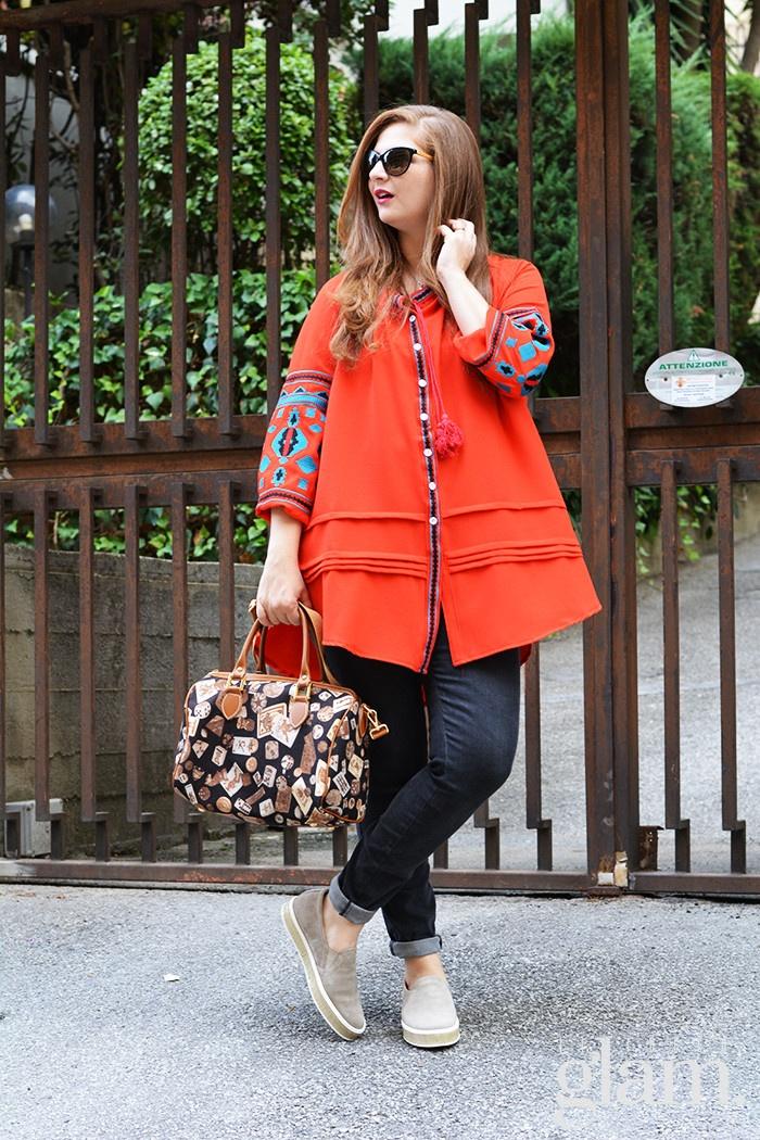 blusa arancio
