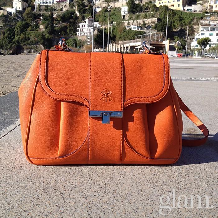 borsa aleph arancio | camera bag Alef