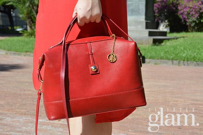 borsa bauletto rossa