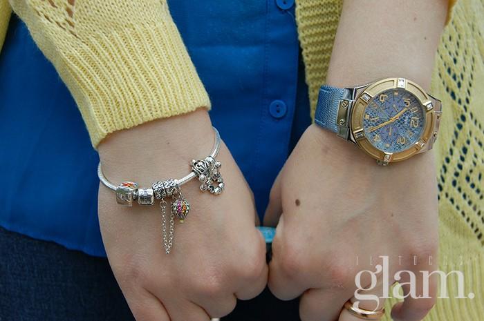 bracciale e orologio