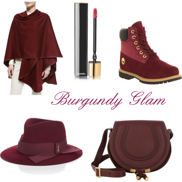 burgundy glam