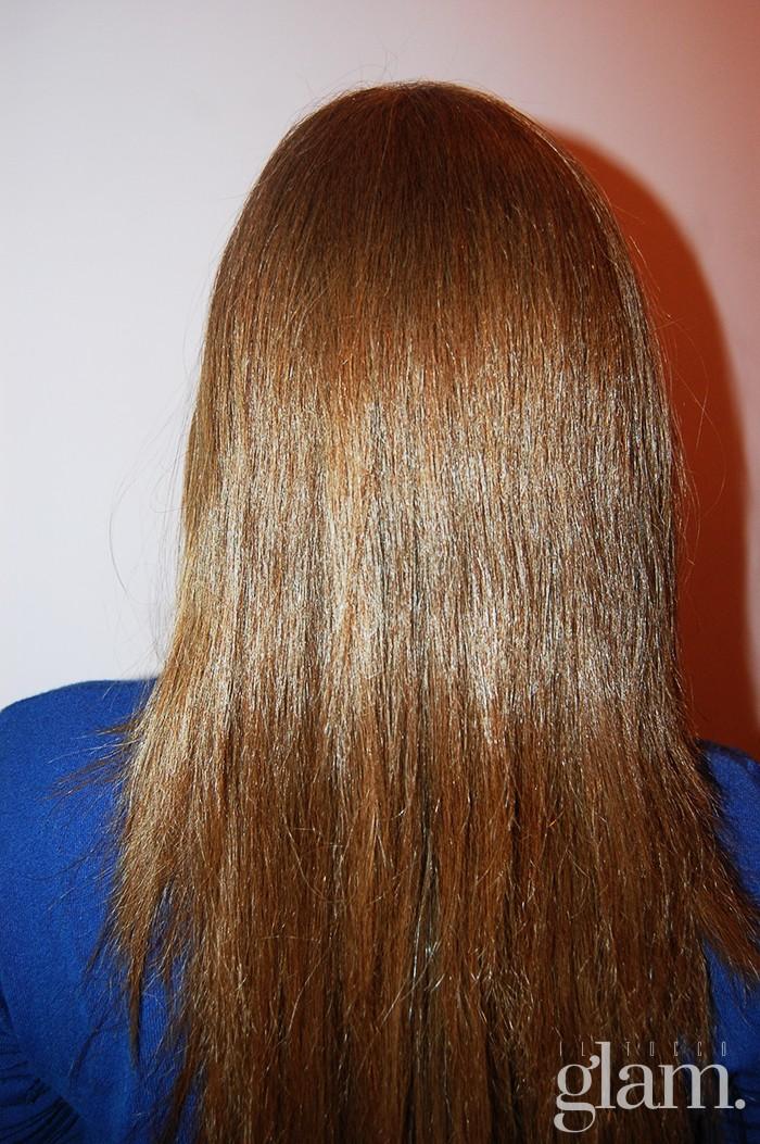capelli con piastra