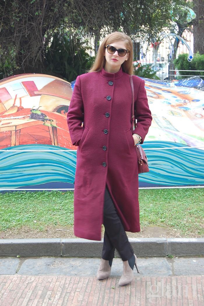 cappotto borgogna