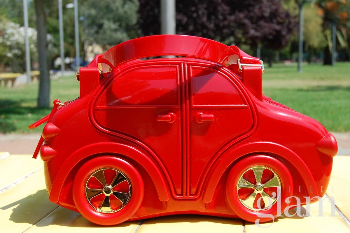 carina bag borsa con stile di macchina rossa