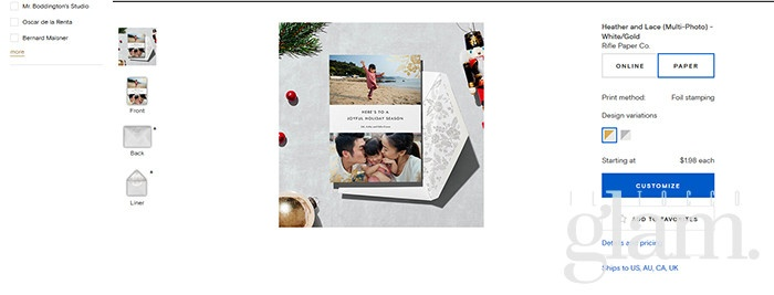 cartolina natalizia paper