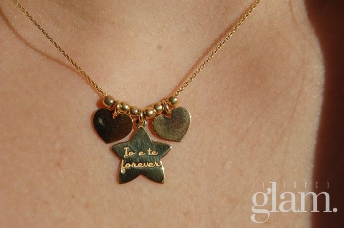 collana in oro con pendenti mycharms
