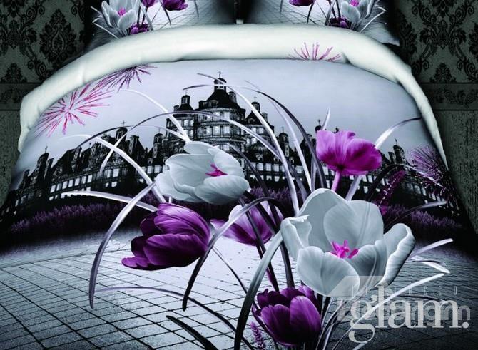 copriletto fiori