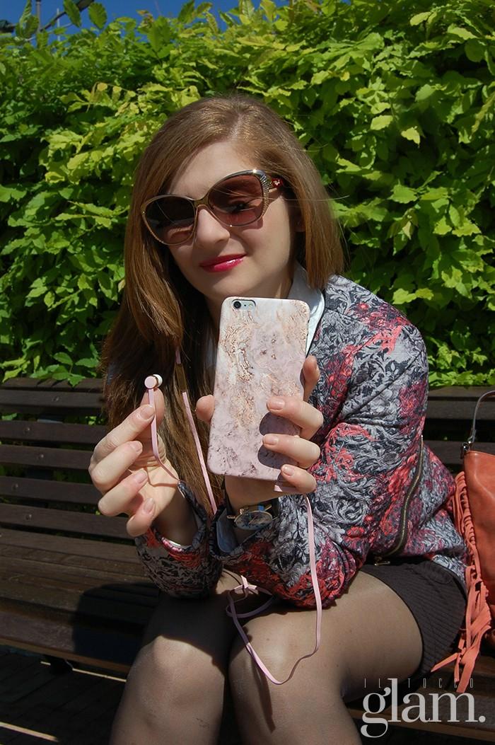 cuffie iphone rosa