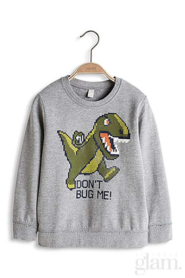 felpa con dinosauro
