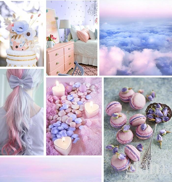 mix rosa e lilla