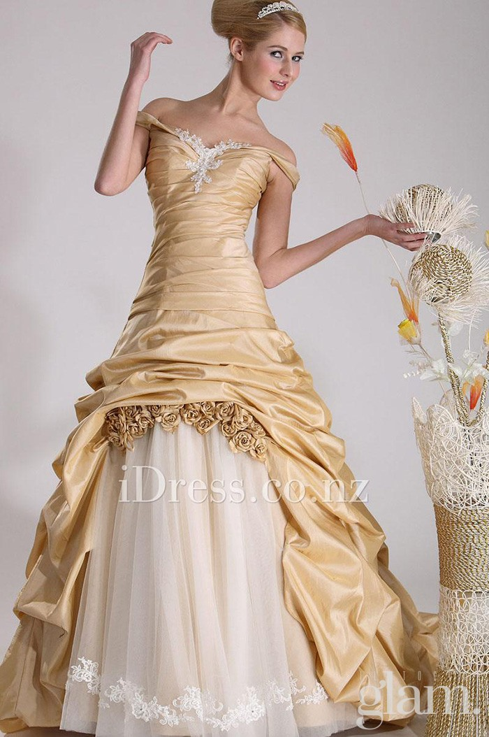 off-the-shoulder-champagne-taffeta-under-tulle-ball-gown-debutante-dress-1