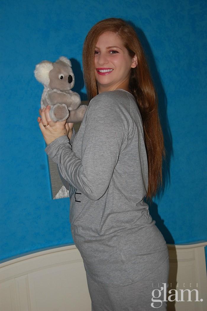 pigiama grigio in cotone