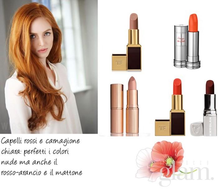 rossetto per capelli rossi