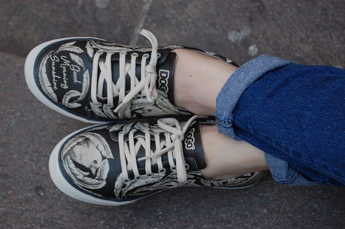 scarpe con disegno