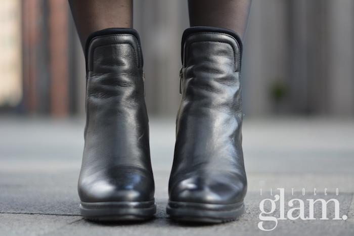 scarpe nere tacco largo