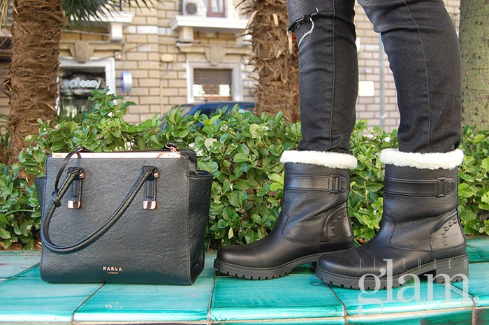 scarponcini neri bata