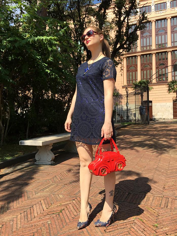 vestito blu Znu