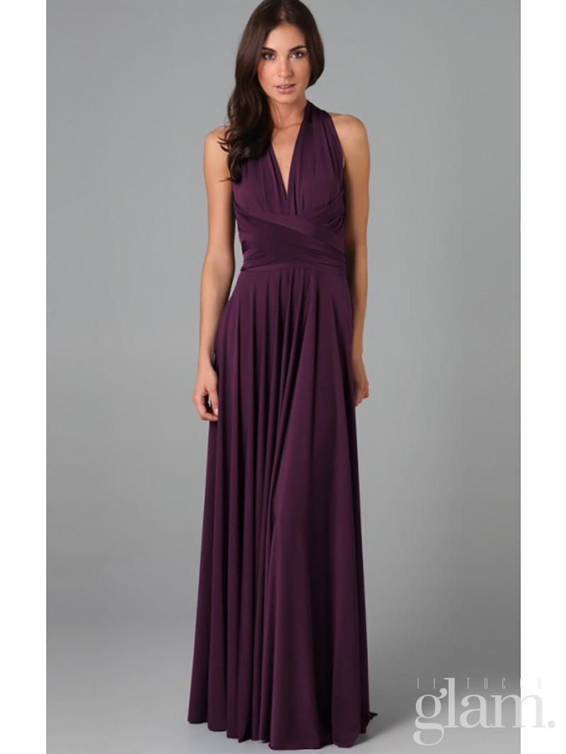 vestito viola san valentino